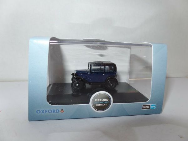 Oxford 76ASS002 ASS002 1/76 OO Scale Austin 7 Seven RN Saloon Light Royal Blue